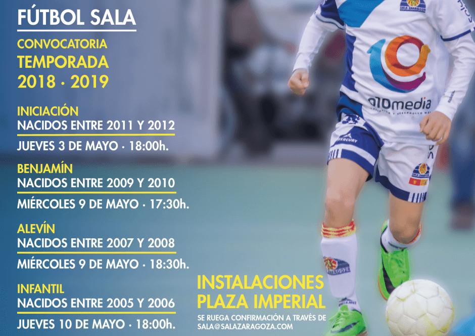 Sala Zaragoza presenta la convocatoria de sus equipos base para la temporada 2018-2019