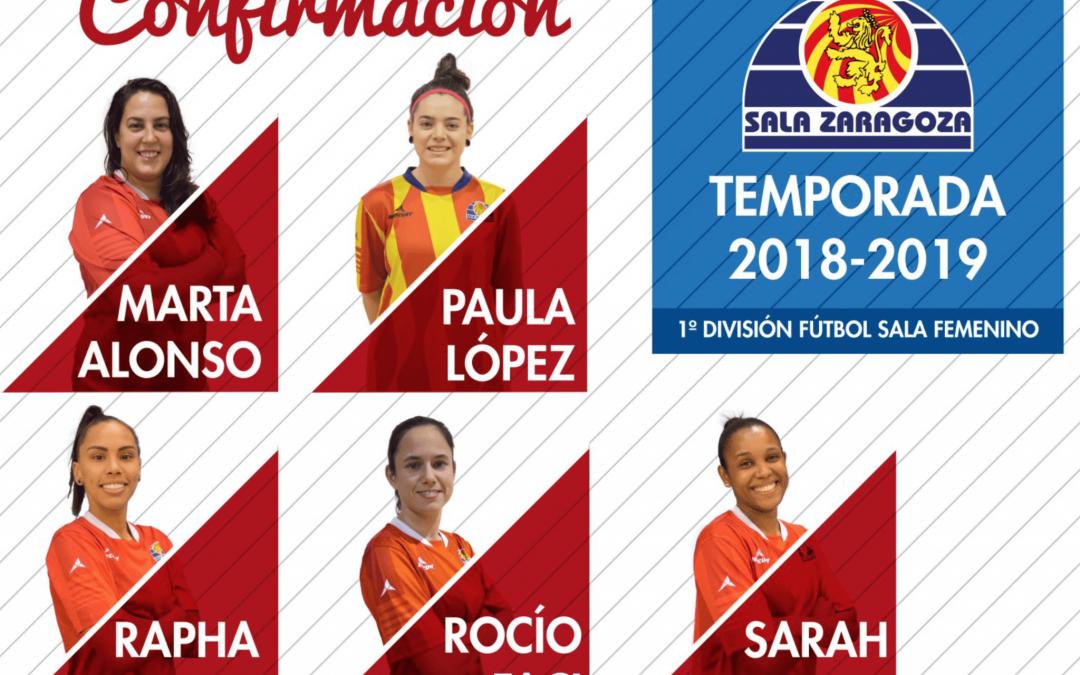 Sala Zaragoza confirma cinco jugadoras para la próxima temporada