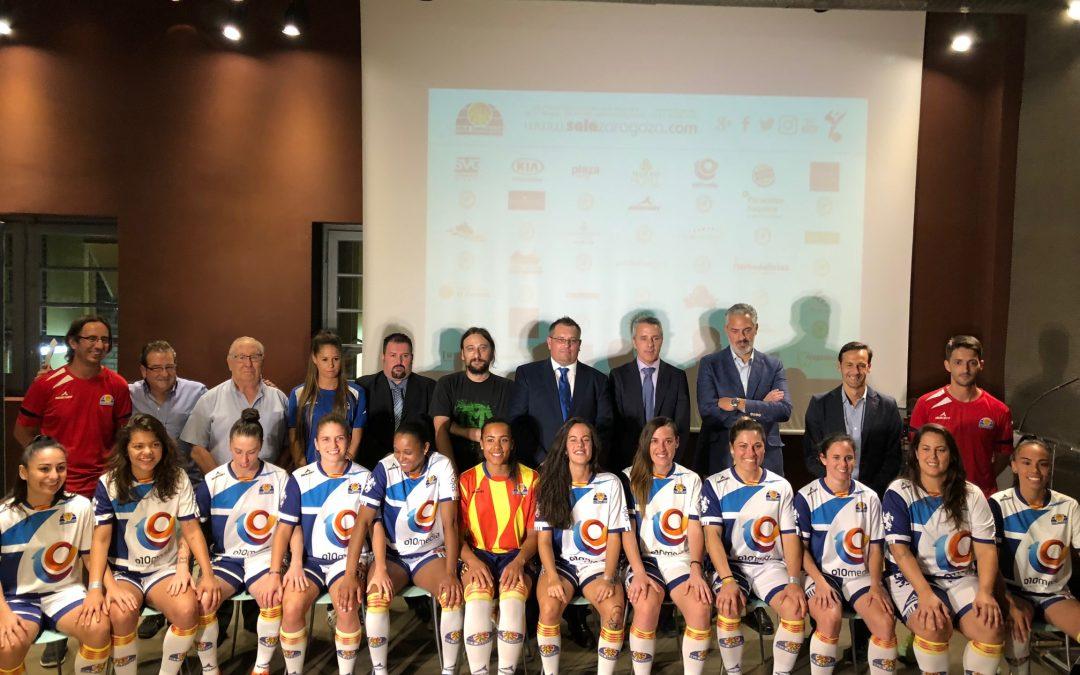La primera plantilla de Sala Zaragoza se presenta antes del debut liguero