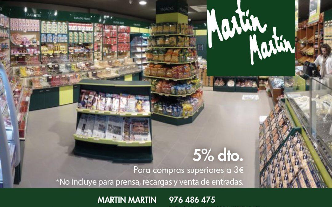 Ahorra con tu carnet de socio de Sala Zaragoza en Martín Martín