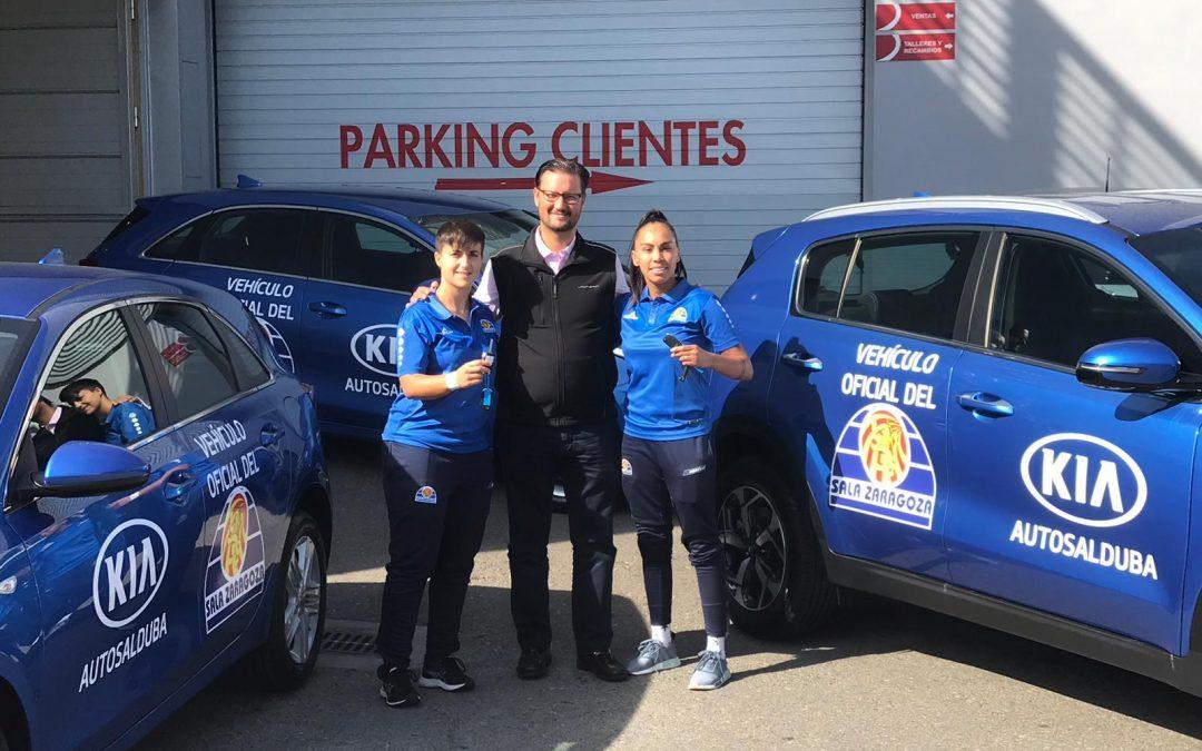 KIA Autosalduba pone tres vehículos a disposición de las jugadoras de Sala Zaragoza