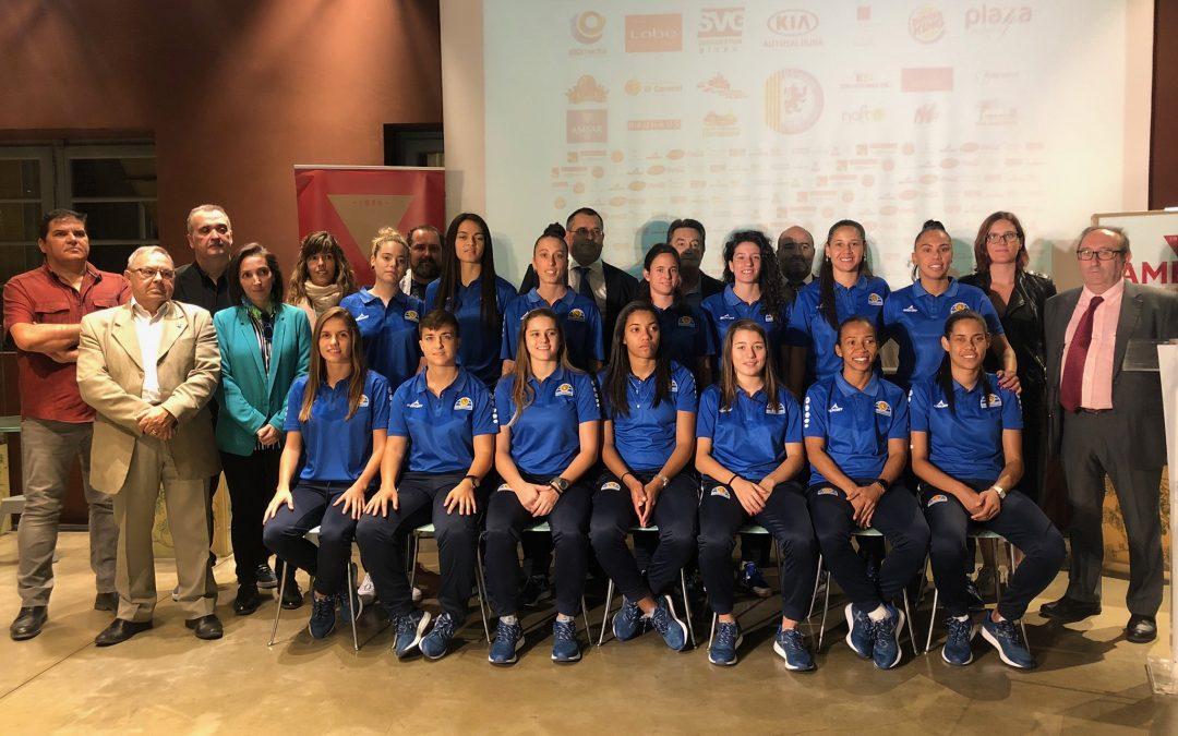 Sala Zaragoza presenta a las jugadoras de la primera plantilla antes del debut liguero
