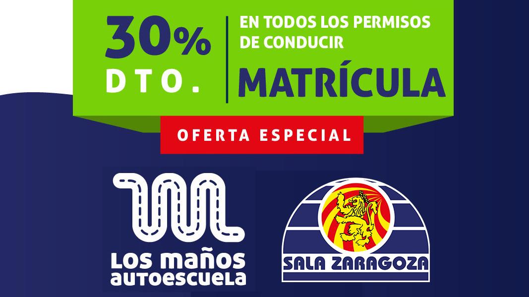 Autoescuela Los Maños, nuevo patrocinador de Sala Zaragoza