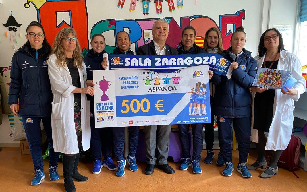Sala Zaragoza visita la planta de oncopediatría del Miguel Servet