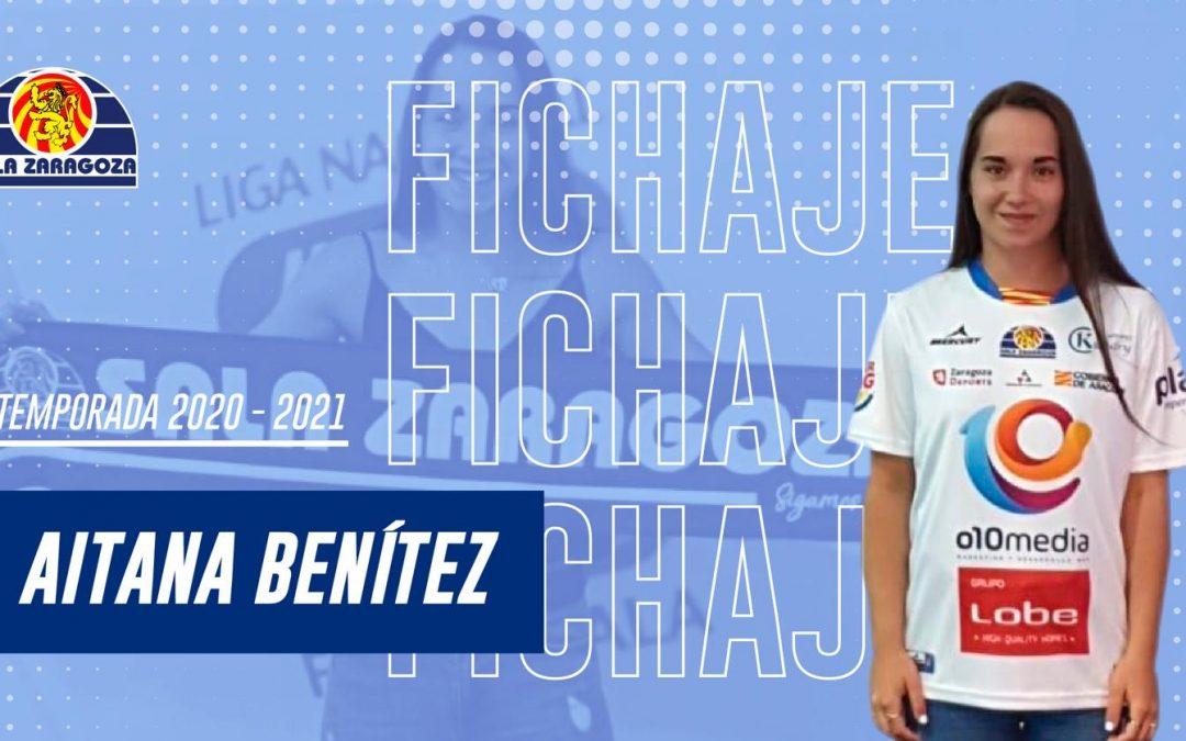 Aitana Benítez, tercera incorporación de Sala Zaragoza