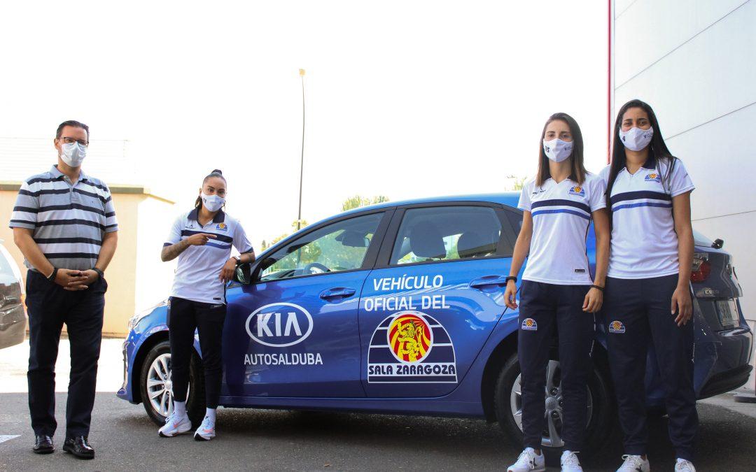 KIA Autosalduba entrega los coches oficiales a las jugadoras de Sala Zaragoza