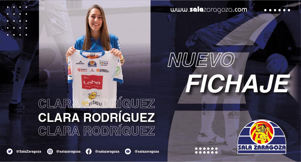 Clara Rodríguez, se incorpora al Sala Zaragoza