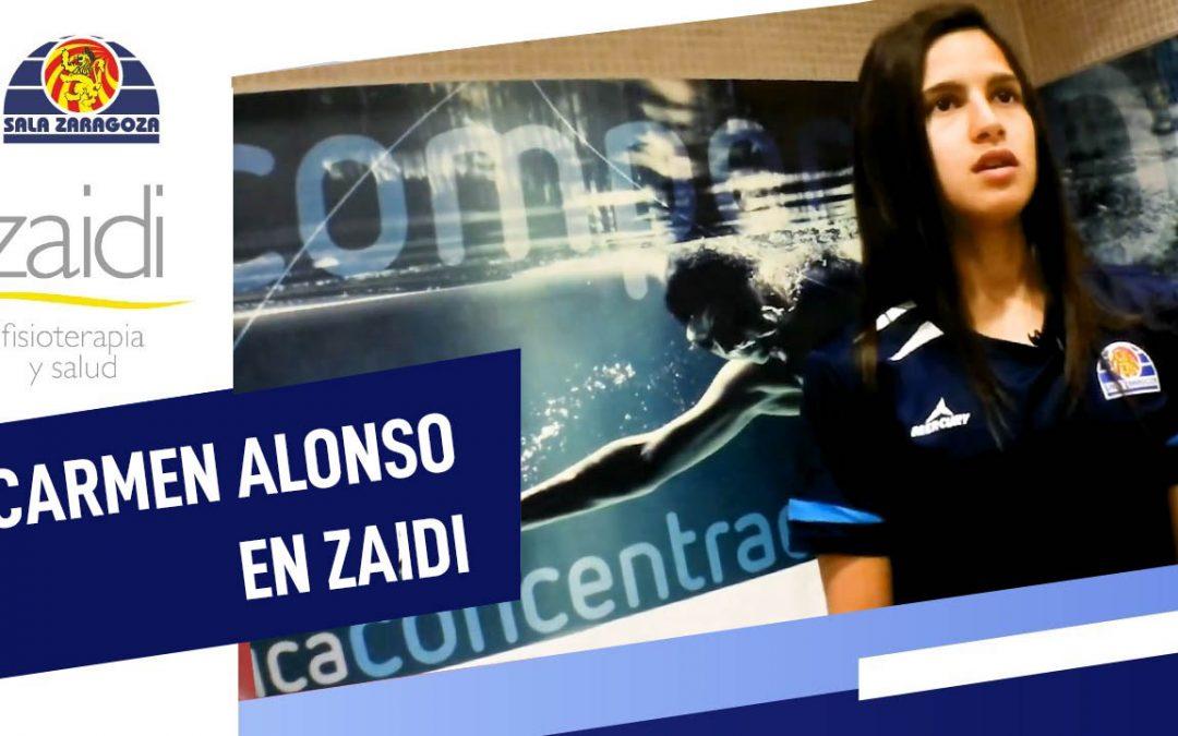 Carmen Alonso pasa reconocimiento médico en Zaidi Fisioterapia