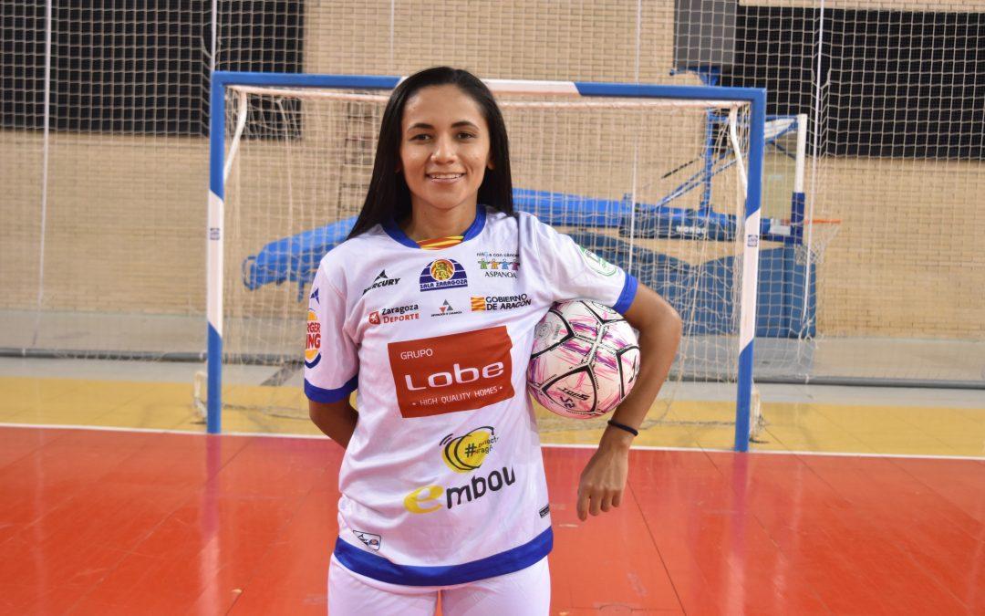 Andreza, presentada como nueva jugadora del Sala Zaragoza