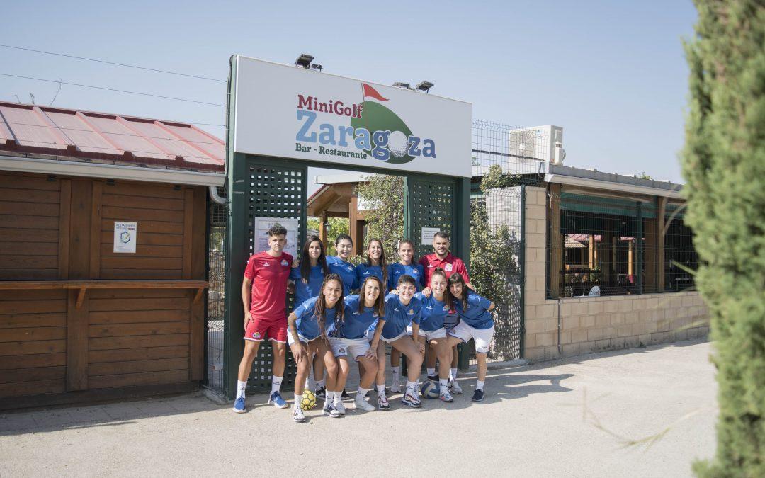 La primera plantilla visita Mini Golf Zaragoza