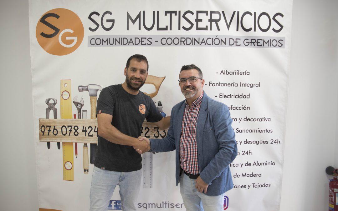 SG Multiservicios y Sala Zaragoza firman el acuerdo de patrocinio para la temporada 2021-2022