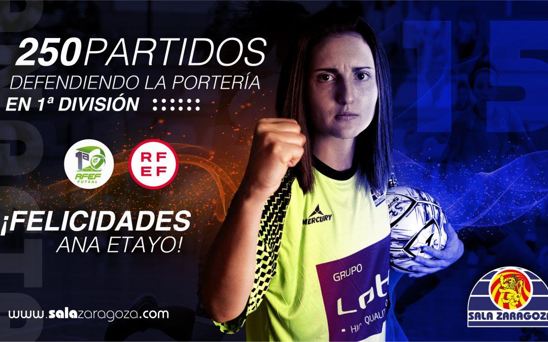 Ana Etayo: 250 veces defendiendo su portería en Primera división