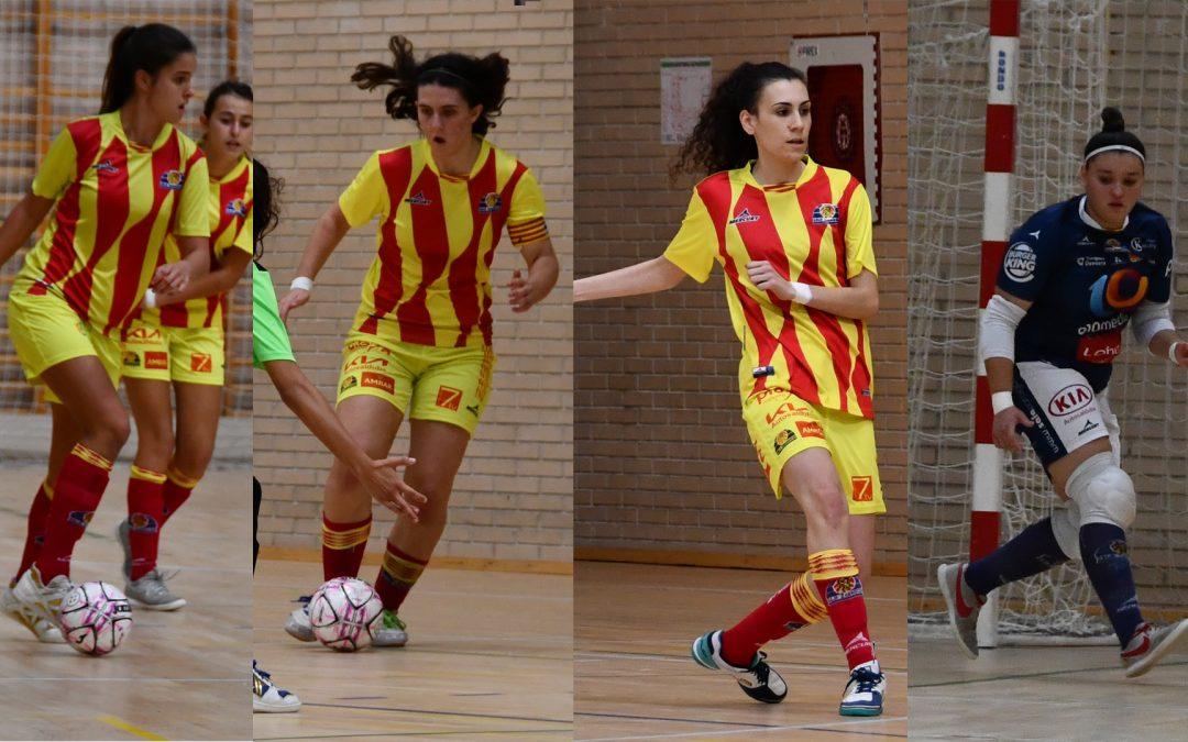 Cuatro jugadoras del Sala Zaragoza convocadas por la selección aragonesa sub-19